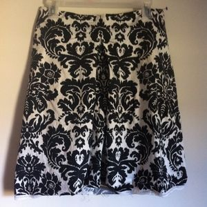 LOFT Black & White Full Skirt